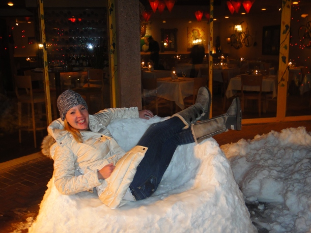 "Ice ""chair"" at L'hostaria"